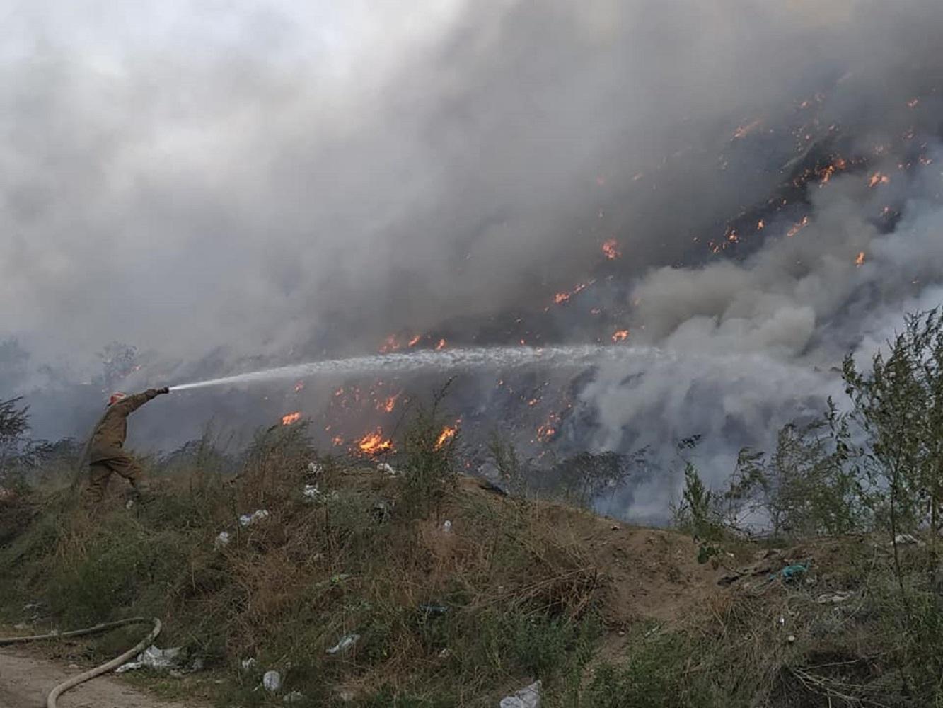 Пожежа на Макухівському сміттєзвалищі