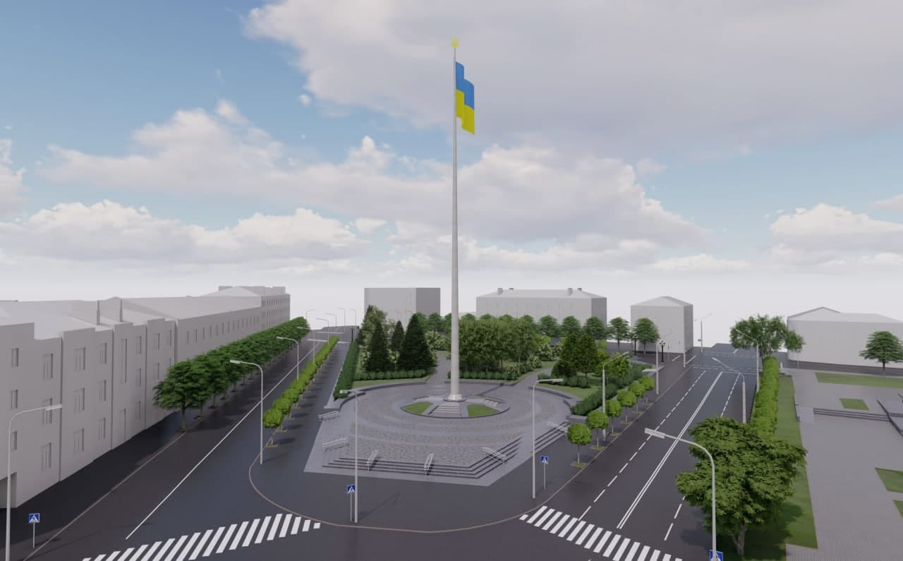У центрі Полтави встановлять 50-метровий прапор