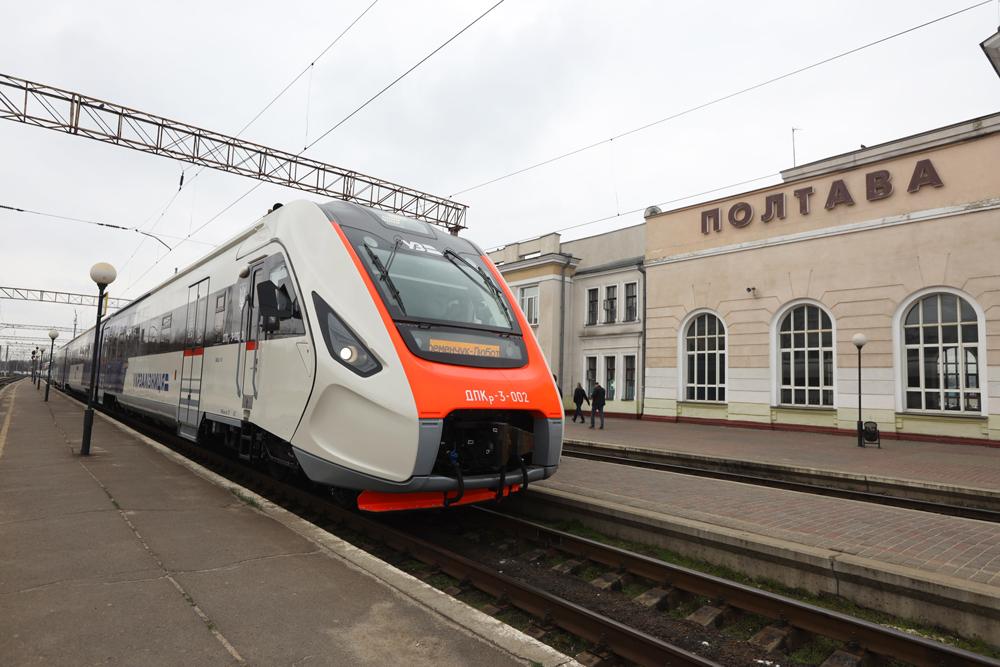 На Полтавщині випробовували другий дизель-поїзд, який замовила «Укрзалізниця»