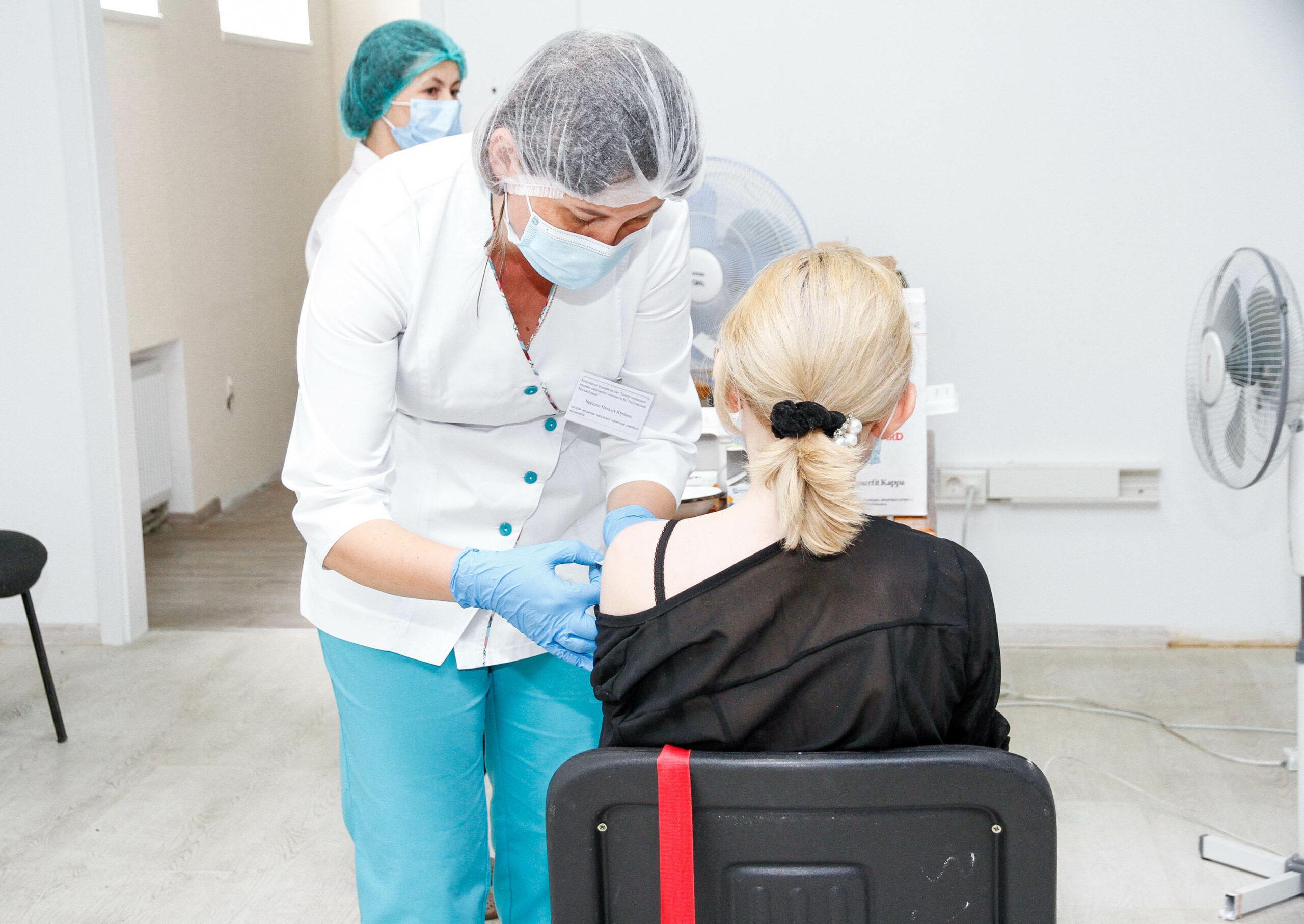 Вакцинація у Полтаві