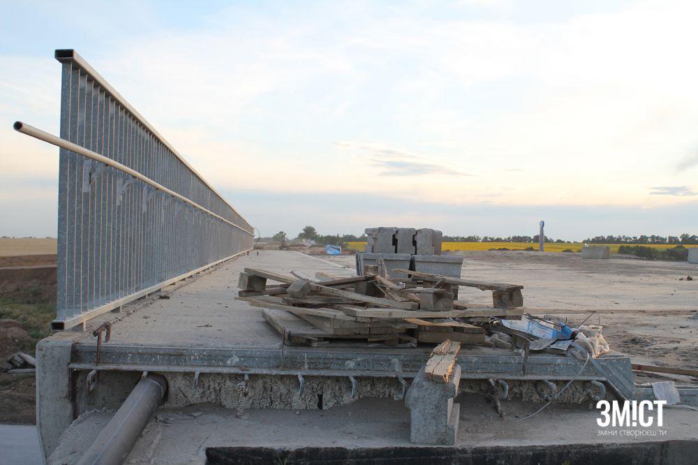 Будівництво на трасі Дніпро – Решетилівка