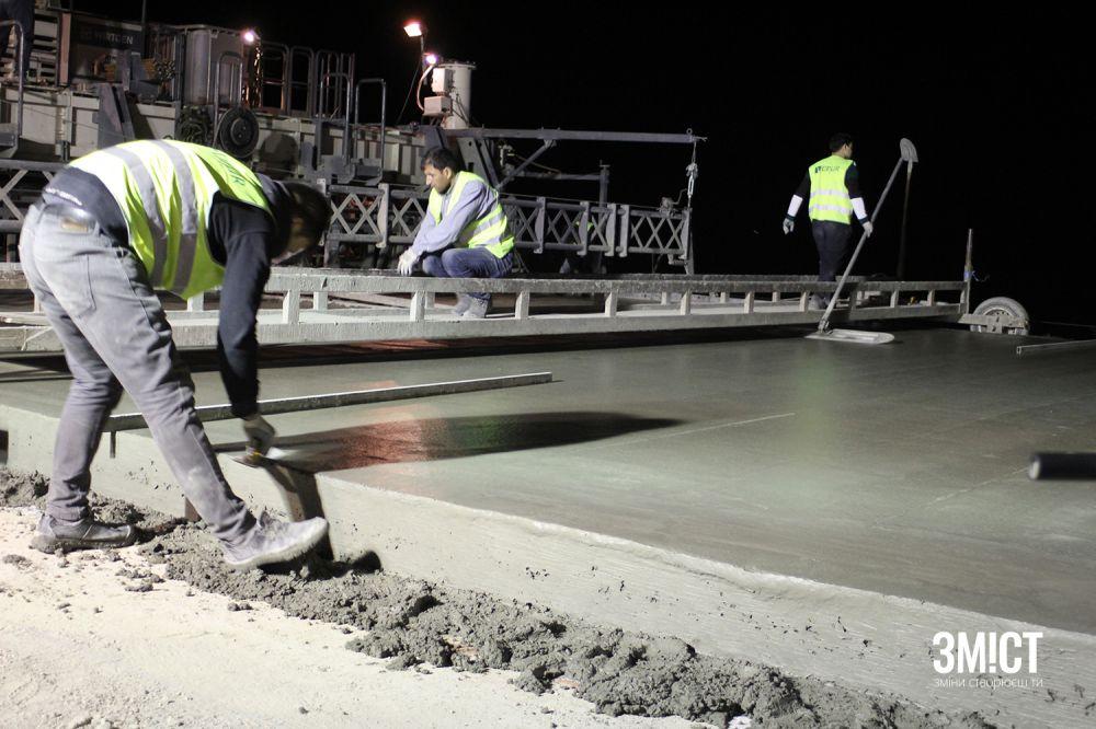 Будівництво цементно-бетонної дороги