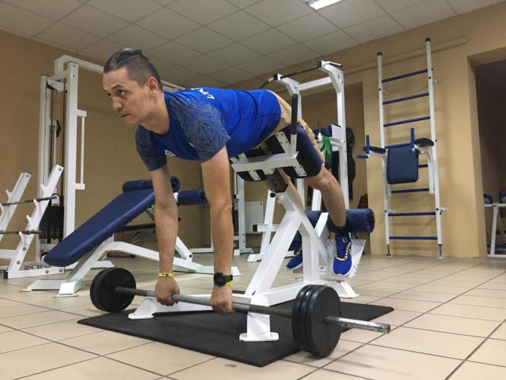 Володимир Мусяк на тренуванні (Джерело – фб-сторінка АТОвця)