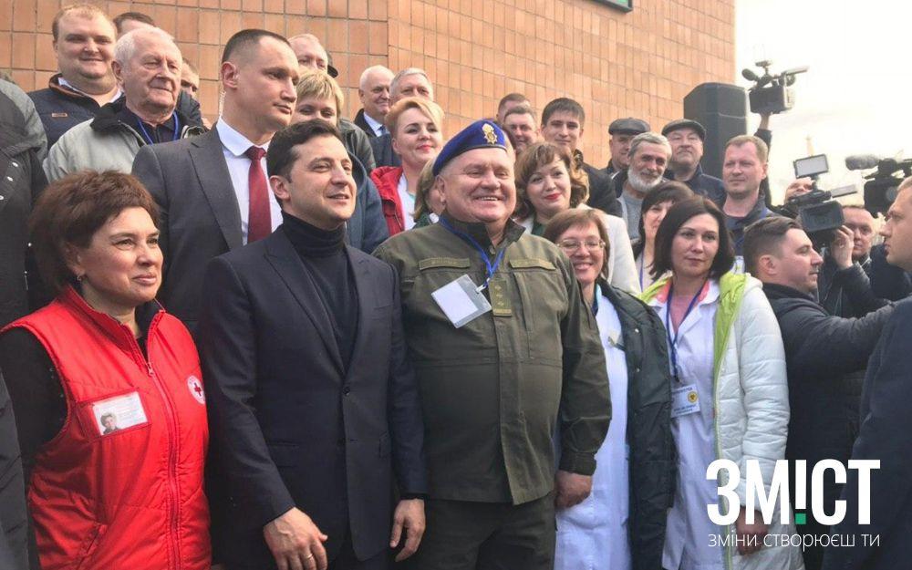 Президент Зеленський у Нових Санжарах подякував усім