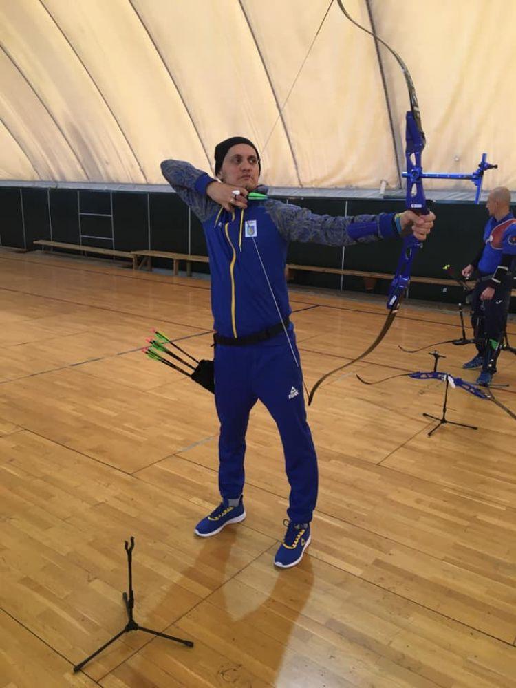 Володимир Мусяк на тренуванні (Фото з особистої фб-сторінки АТОвця)