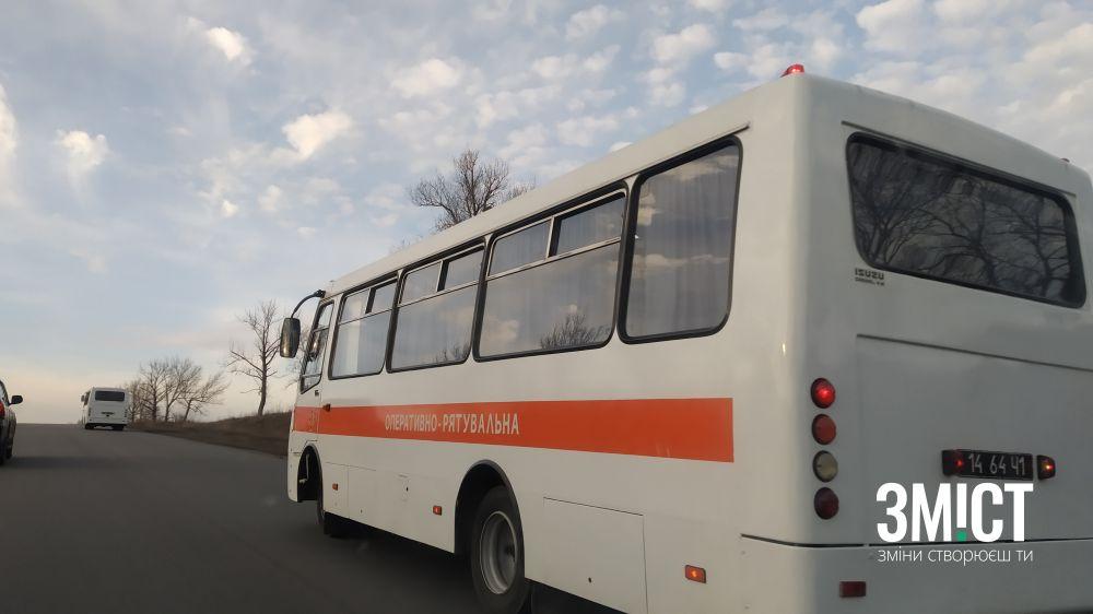 Один з рятувальних автобусів